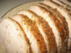 This Crock Pot Pork Loin couldn't be simpler -- and you'll be able to enjoy the leftovers on all phases! Use an all-natural seasoned salt (Simply Organic makes good ones), and if you make gravy, thicken it with arrowroot. (Note that the recipe says pork tenderloin, but uses pork loin.)