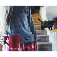 """""""Quiet mornings, chilly air, spiced cider and my favorite sweater."""" #nrthwst {@wishyouwerenorthwest } amazing """"wanderlust"""" fashion.  I am so pleased with my two articles of clothing so far. Be sure to check them ouuut  #Padgram"""
