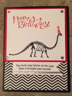 Created by Amy Pieters, Independent Stampin Up! Demonstrator using No Bones About It and Age Awareness Stamp Sets.