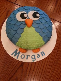 Owl Cake - cute for a smash cake