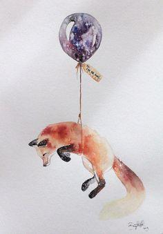 Fox illustration by Brigitte May Art Inspo, Art Fox, Illustration Tumblr, Illustrations, Art Design, Painting & Drawing, Fox Drawing, Fox Painting, Drawing Animals