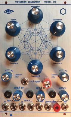 Vedic Scapes Metatron Generator 618 II - Buchla Module on ModularGrid Techno Music, Dj Music, Modulation Music, Retro Arcade Machine, Live Set, The Dj, Guitar Pedals, Old Tv, Studio Ideas