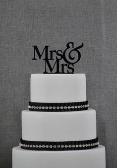 Mrs and Mrs Same Sex Wedding Cake Topper by Chicago Factory