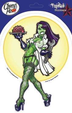 Frank's Assistant Pin Up Girl Sticker by Cherry Redd Fashions - Dr. Frankenstein's Monster