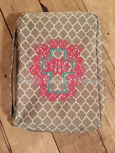 Hey, I found this really awesome Etsy listing at https://www.etsy.com/listing/249882693/monogrammed-bible-covers-quatrefoil