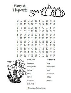 Harry at Hogwarts Wordsearch Lesson Plan of Happiness Harry Potter Classes, Harry Potter Words, Harry Potter Activities, Harry Potter Day, Harry Potter Games, Harry Potter Classroom, Harry Potter Printables, Harry Potter Cosplay, Harry Potter Birthday