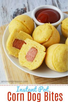 Homemade Instant Pot mini Corn Dog bites -simple and easy to make in your pressure cooker using just a few ingredients. Homemade Instant Pot mini Corn Dog bites -simple and easy to make in your pressure cooker using just a few ingredients. Best Instant Pot Recipe, Instant Pot Dinner Recipes, Instant Recipes, Instant Pot Pressure Cooker, Pressure Cooker Recipes, Pressure Cooking, Instant Cooker, Slow Cooker, Corn Dog Bites Recipe