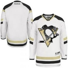 0593ac1b7 Penguins Reebok Stadium Series Men s Blank White Replica Jersey