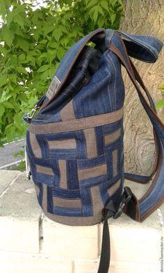 2a26e4c64c5d Купить или заказать Рюкзак джинсовый Basket Cap в интернет-магазине на  Ярмарке Мастеров. Рюкзак
