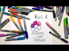 "Part 2 of my ""Sharpie Coloring Secrets"" series shows you how to use textures to get fun and interesting blending effects. You've probably never thought to do. Coloring Tips, Cool Coloring Pages, Printable Coloring Pages, Adult Coloring Pages, Coloring Books, Coloring Stuff, Sharpie Paint Pens, Sharpie Markers, Sharpie Art"