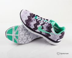 separation shoes d6fea 10937 Nike - Free TR Fit 3 Print - Grå Grön Lila