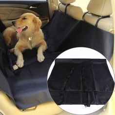 Pet Dog Cat Car Rear Back Seat Cover Waterproof car-covers Pet Carrier Blanket Hammock Cushion covers for car seats black