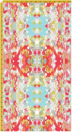 fabric by the yard: watercolor ikat on heavy cotton twill | candy kirby designs