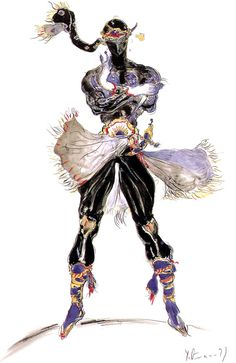 #Yoshitaka#Amano Final Fantasy: The Ninja Shadow