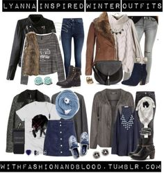 Lyanna inspired winter outfits by withfashionandblood featuring black bootiesGrey sweater / Pink sweater / Graphic tee / H M crop top, $12 / Moto jacket / Wallis motorcycle jacket / Plus size jacket, $81 / H M motorcycle jacket, $59 / H M brown vest, $44 / Charlotte Russe acid wash jeans / H&M slim jeans, $37 / Topshop tight / H&M blue pants, $30 / H M mini skirt, $22 / Keds sneaker / JJ Footwear black booties, $81 / Dorothy Perkins navy blue shoes, $58 / Military boots, $19 / Tassel...