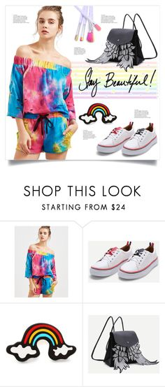 """""""Rainbow"""" by mahafromkailash on Polyvore featuring rainbow, unicorn, coldshoulder, offshoulder and shein"""