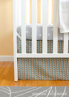 Nursery Progress : DIY Crib Skirt and Lazy Mitered Corner Hem - The Golden Sycamore