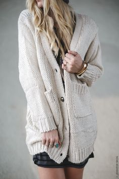 chunky oversized knitted boyfriend cardigan sweater shop christmas at threebirdnest.com
