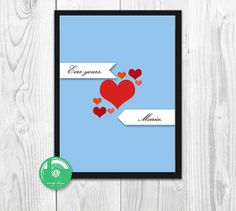 Digital Print  Customisable Message by MovingDesign on Etsy, $5.92