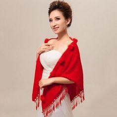 Prachtige Rode Sjaal - CJchoice