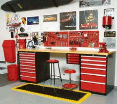 A garage workbench is an essential tool in any house workshop. A workbench will permit you to total projects quickly and with higher precision. Garage House, Garage Shed, Garage Tools, Man Cave Garage, Garage Plans, Garage Workbench, Workbench Ideas, Dream Garage, Small Garage