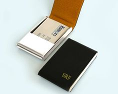 Sleek leather business card case dot and bo pretty products for hey i found this really awesome etsy listing at httpetsy listing155008487leather business card case personalized reheart Choice Image