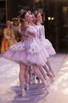 Elizabeth Weldon and company dancers in The Sleeping Beauty, Ballet West