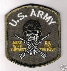 Us army mess with the best military patch badge iron on transfer embroided sew
