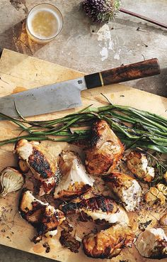 Garlic and Rosemary Grilled Chicken with Scallions