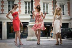 friends, parisienne, paris, fun, dress, robe, fashion, mode, my couture corner, chic, glamour, notte by marchesa, hoss intropia