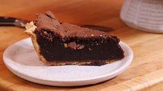Chocolate Chess Pie With Butter, Sugar, Eggs, Cornmeal, Vanilla, Dark Chocolate Cocoa Powder, Unbaked Pie Crusts