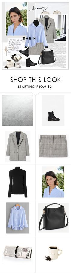 """SheIn - Dip Hem Blouse"" by stylemeup-649 ❤ liked on Polyvore featuring MANGO, Polo Ralph Lauren, Papà Razzi and Garance Doré"