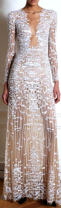 Zuhair Murad / Beautiful Ivory wedding gown / dress