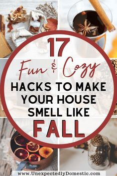 Want to evoke all the cozy Fall feels? Try these unique ways to make your house smell like Fall, naturally! Bring on those good autumn scents! These home fragrance & cleaning hacks show exactly how to make your house smell like fall. You can DIY it with a natural approach to these ideas with potpourri recipes, simmer pots on the stove with water, baking soda, homemade air freshener, etc. Or products like Body Works scented candles, or your essential oils in the oil diffuser. #fall #essential