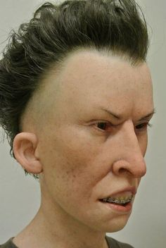 Super-Realistic Sculptures of Beavis and Butt-Head in Real Life...This is the most horrid thing I've ever seen. The face of pure stupid evil.