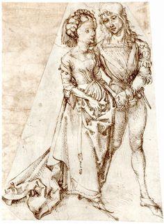 A young couple posters & prints by albrecht dürer or duerer Albrecht Dürer, Landsknecht, Medieval Costume, Art Database, Italian Artist, Young Couples, Portraits, Middle Ages, Great Artists