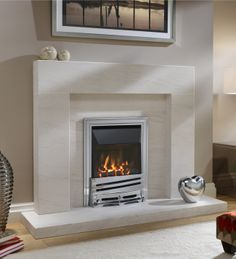 eko 4010 high efficiency gas fire / Gas Fires Electric Fires Stoves Marble Fireplaces / Fireplaces and Fire Accessories Inset Fireplace, Art Deco Fireplace, Fireplace Stores, Limestone Fireplace, Marble Fireplaces, Fireplace Design, Fireplace Ideas, Gas Fireplaces, Fireplace Surrounds