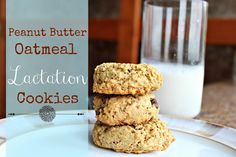 Peanut Butter Oatmeal Lactation Cookies (with chia seeds!) for Breastfeeding Mamas
