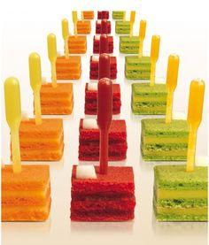 ...Petit Fours am Spieß! #food #food #sweets #cake #dessert #patisserie