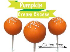 Pumpkin Cream Cheese Cake Pops by The Dapper Dipper on Etsy. New flavors!!