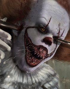 "dark-starseed: ""Pennywise is not impressed :D Weiterlesen "" Clown Horror, Arte Horror, Horror Art, Evil Clowns, Scary Clowns, Scary Movies, Horror Movies, Horror Film, Scary Clown Mask"