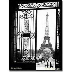 @Overstock - Artist: Sally Gall  Title: Views of ParisProduct Type: Gallery-wrapped Giclee on canvas arthttp://www.overstock.com/Home-Garden/Sally-Gall-Views-of-Paris-Gallery-wrapped-Art/3821080/product.html?CID=214117 $79.99