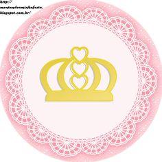 Montando minha festa  Kit digital gratuito para imprimir Princess - Coroa  de Princesa Rosa! Mais 2be31441844