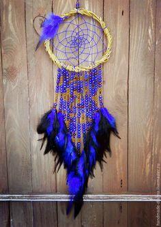 """Купить Ловец снов """"Хрустальное марево"""" - синий, ловец снов, ловушка сновидений, подарок, что подарить"""