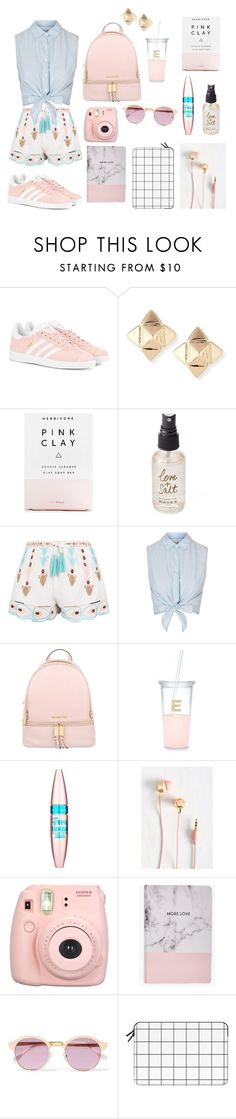 """Back to school chic"" by foodiefashion ❤ liked on Polyvore featuring adidas Originals, Valentino, Herbivore, Olivine, New Look, Topshop, MICHAEL Michael Kors, Kate Spade, Maybelline and Fujifilm"