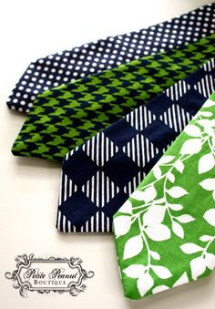 Little Guy Necktie Tie  Navy and Green Collection  by petitepeanut, $13.00