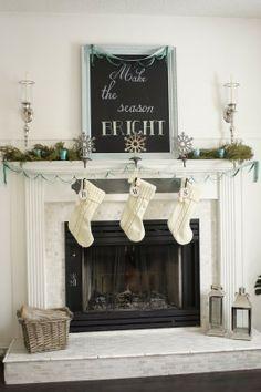 Make the season bright - mantel decor