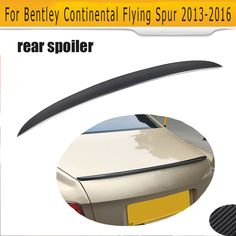 Carbon fiber Rear Trunk Spoiler for Bentley Continental Flying Spur 13-16 D Style boot spoiler Car Tuning Parts