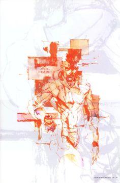 Metal Gear Solid Concept Art - Solid Snake Concept Art