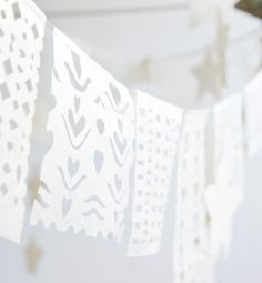 Maya Flags - Atelier Sukha | Made off: lokta paper with cotton string | Size: 14 flags on a 365 cm long garland | Handmade in: Nepal